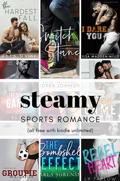 Steamy Kindle Unlimited Sports Romances is part of Sports romance books - These steamy kindle unlimited sports romances will leave you hot and sweaty! From wrestling to drumline, college to professional, these are must reads! College Romance Books, Good Romance Books, Romance Authors, Kindle Unlimited, Best Kindle, Contemporary Romance Books, Book Boyfriends, Celebrity, Humor