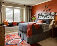 Inspiring Tween Boy Bedroom Ideas With Cool Design: Teen Boy's Room Ideas With Rug Area And Awesome Wall Decoration Also White Curtains ~ articature.com Bedroom Design Inspiration
