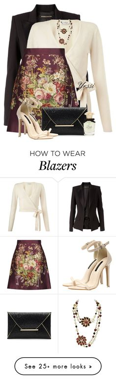 """""""~ D&G Satin Mini Skirt ~"""" by pretty-fashion-designs on Polyvore featuring Alexandre Vauthier, Miss Selfridge, Dolce&Gabbana and Chanel"""