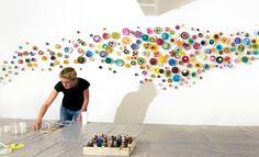 klari reis. recreates colors and textures from petri dishes