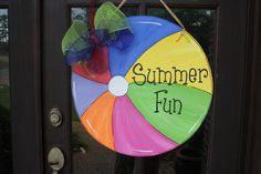 Hey, I found this really awesome Etsy listing at http://www.etsy.com/listing/99672195/wooden-summer-fun-beach-ball-door-hanger