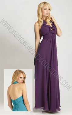 Long Bridesmaid Dress.  The halter top and flowing skirt, makes it perfect for every body type!