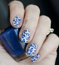 Lydia's Nails: Animal Print nails with OPI Euro Centrale