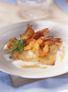 Ricardo's Recipe : Scallop Ravioli and Paprika Shrimp