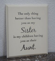 Sister Plaque sign Handmade solid wood -  #Handmade