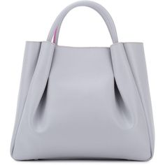 Alexandra de Curtis - Ashley Midi Ruched Tote Grey (37.895 RUB) ❤ liked on Polyvore featuring bags, handbags, tote bags, lightweight handbags, grey handbags, tote handbags, gray purse and over the shoulder purse