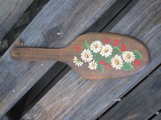 Vintage Wood Paddle with Hand Painted by jonscreations on Etsy