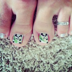 Pandas:) nails Panda Bear, Print Tattoos, Nails, Pandas, Finger Nails, Ongles, Panda, Nail, Nail Manicure