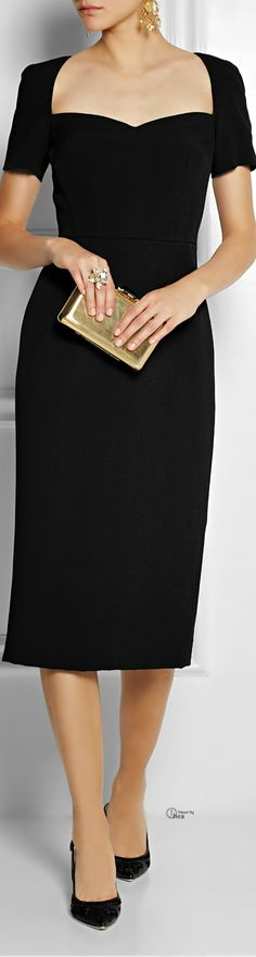 barbarasangi   Dolce & Gabbana Crepe pencil dress LBD/CT