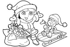 http://colorings.co/dora-christmas-coloring-pages/