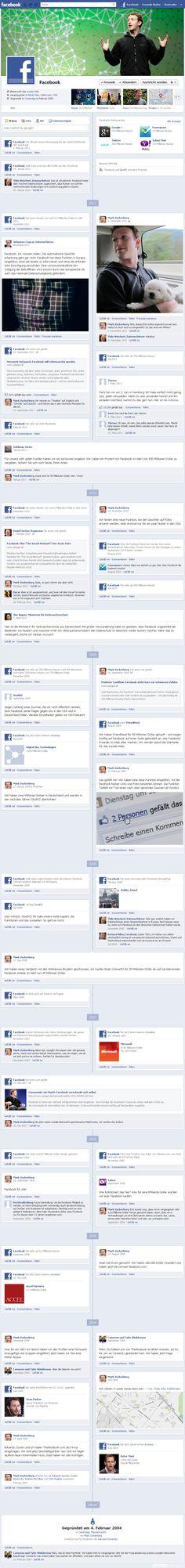 Facebook's Timeline by Spiegel Online