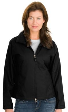 Port Authority - Ladies Endeavor Jacket. L768 - Black/Black_4XL