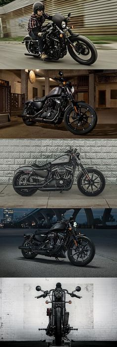 If you thought the Iron 883 couldn't get any darker, you're mistaken. | Harley-Davidson #DarkCustom #harleydavidsonsportsteriron