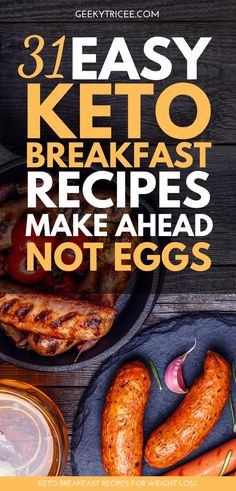 So youre on the hunt for easy low carb make ahead no egg keto breakfast recipes . Breakfast Ideas Without Eggs, Quick Keto Breakfast, Chicken Breakfast, Healthy Breakfast Recipes, Clean Eating Recipes, Healthy Eating, Clean Foods, Breakfast Smoothies, Healthy Breakfasts