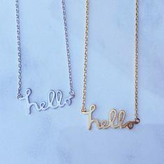 Hello Necklace