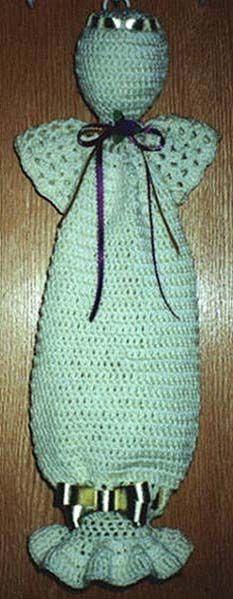 Crocheted Angel Bag Holder