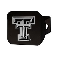"""Texas Tech University TTU Red Raiders 2"""" Black Metal Tow Hitch Receiver Cover -- Awesome products selected by Anna Churchill"""