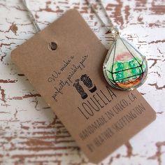 Cacti Terrarium Necklace by shopLouella on Etsy
