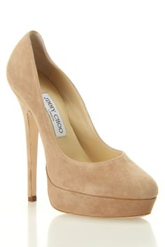Jimmy Choo Eros Suede Pumps In Nude - Beyond the Rack