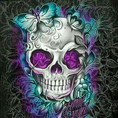 Diy Diamond Painting Kit, Halloween Flower Skull Rhinestone Christmas Art Craft Supply for Home Wall Decor(Frameless) Sugar Skull Tattoos, Sugar Skull Art, Skull Candy Tattoo, Body Art Tattoos, Cool Tattoos, Los Muertos Tattoo, Totenkopf Tattoos, Skull Pictures, Skull Artwork