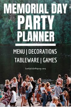 Memorial Day Party Planner for Food, Decor, Tableware & Games