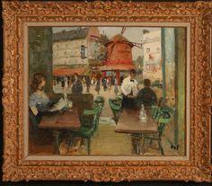 Lot 177 MARCEL DYF (1899 - 1985) OIL ON CANVAS PARIS CAFE SCENE Paris Cafe, Fine Art Auctions, Marcel, Oil On Canvas, December, Scene, Painting, Moulin Rouge, Parisian Cafe