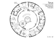 "AWESOME Dome Home floorplan    Monolithic Marketplace — Construction Drawings-DL T05 ""Torus"""