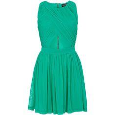 TOPSHOP Wrap Mesh Skater Dress ($92) ❤ liked on Polyvore