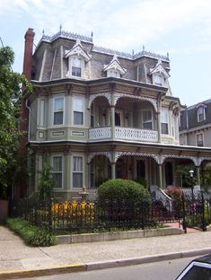 Second Empire Victorian style home. Old Victorian Homes, Victorian Decor, Victorian Houses, Victorian Design, Victorian Architecture, Architecture Details, Stairs Architecture, Classic Architecture, Elegant Home Decor