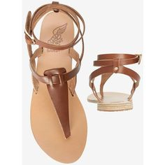 794f498e0bff MICHAEL Michael Kors Simone Patent T-Strap Sandal ( 150) ❤ liked on Polyvore  featuring shoes