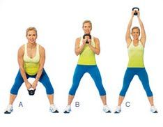 Squat catch, and press: Exercises with Kettlebells - Prevention.com