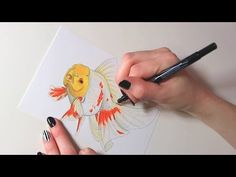 ✎ Red and White Oranda | Drawing Series