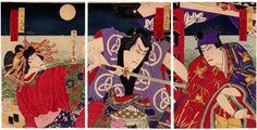 Lotto 00236 N.1 trittico di xilografie ukiyo-e Morikawa Chikashige DIECI RUOLI DEL CLAN DATE Anno: 1880 Condizioni: ottime Dimensioni: 70 x 35,5 cm