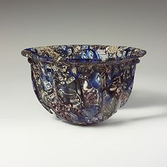 Ribbed mosaic glass bowl Period: Early Imperial Date: late century BCE. Culture: Roman, probably Italian Medium: Glass Roman Artifacts, Ancient Artefacts, Art Of Glass, Medieval Art, Ancient Romans, Antique Glass, Mosaic Glass, Archaeology, 1st Century