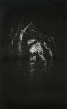 Traverse I, 2005 by Cleo Wilkinson, one of the a few artists working today in the mezzotint printmaking technique.