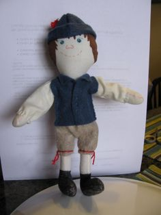 This is a little doll that my grandson Hunter and I made together for a school project he had.  The dolls name is Sven.