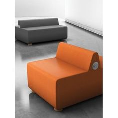 Palmieri Pods by Dre Fabric Double Face Soft Seating Back Rest Color: Red, Bottom Seat Color: Navy, Finish: Black