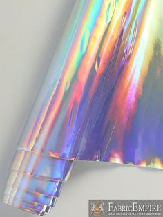 Sold By The Yard Vinyl Upholstery Plain Holographic Fabric Cute Home Decor, Cheap Home Decor, Holographic Fabric, Rainbow Aesthetic, Fireplace Remodel, Home Interior, Coastal Decor, Home Decor Accessories, Bohemian Decor