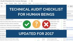 Technical SEO Audit Checklist for Human Beings https://cstu.io/6e0826