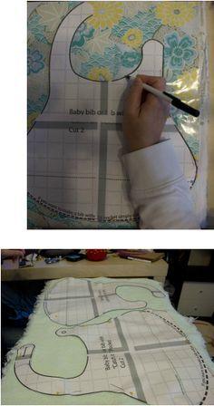 Free Baby bib pattern pdf with pocket tutorial on www.fleecefun.com