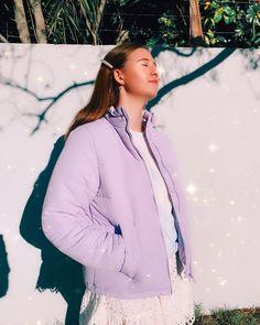 Purple lilac girl fashion Kira Kira sparkly glow hair pin pearls 2020 Glow Hair, Purple Lilac, Hair Pins, Girl Fashion, Winter Jackets, Pearls, Photo And Video, Instagram, Women's Work Fashion