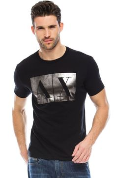 A|X Foil Logo TeeOnline Exclusive - Tops - Online Exclusives - Mens - Armani Exchange