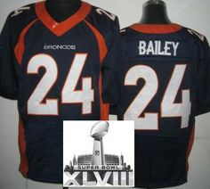 Nike Denver Broncos 24 Champ Bailey Blue Elite 2014 Super Bowl XLVIII NFL  Jerseys New Style ... 4cbbe9f97