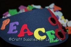 "Fruit of the Spirit Visor Craft.  Use foam stickers to spell ""Love, Joy, Peace"".  Add Foam Fruit Shape and embellish with Rhinestones.  Great kids craft."
