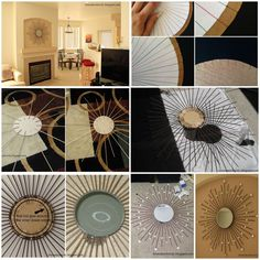 Theres no need to spend a ton of money on decorative wall decor.with this DIY Starburst Mirror, you can create something truly stunning thats sure to add a lovely touch to your home. Diy Crafts For Your Room, Dollar Store Mirror, Sun Mirror, Starburst Mirror, Hobbies To Try, Wall Mounted Mirror, Cardboard Crafts, Living Room Grey, Dollar Stores