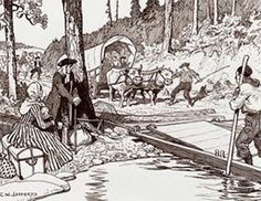 United Empire Loyalists leaving the U. to live in Canada where British rule was still in effect after the American Revolution. American War, American History, Canada, Pioneer Life, War Of 1812, Canadian History, Colonial Williamsburg, Family Genealogy, American Revolution