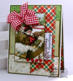 Christmas Greetings Card Polly's Paper Studio 01