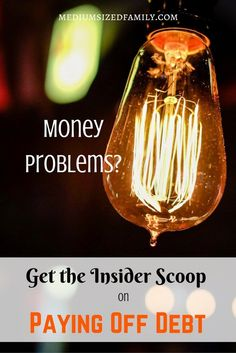 Money Problems? Get the Insider Scoop on Paying Off Debt. This blogger is laying it all out while her family digs their way out of debt. They've made big strides in debt payoff in 2016, and next year looks even more promising! Get advice from someone who is in the trenches with you.