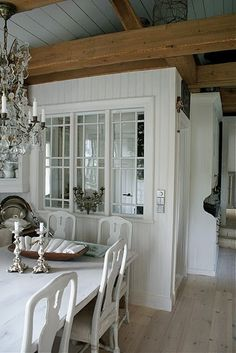 interior windows and breakfast room
