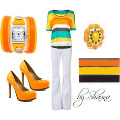 bright summer colors :) LOVE